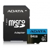 Pamięć SD (micro) 64 GB A-Data + adap.CL10/A1